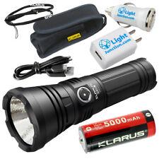 Klarus G20L Rechargeable Flashlight (3000 Lumens) + KL 26650 + USB Adapters