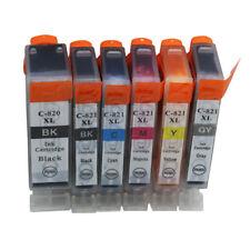 6x Ink Cartridge PGI 820 CLI821 Compatible For Canon PIXMA MP558 MP568 MP628