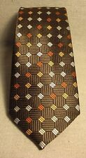 Non-Branded Boys New Brown 100% Polyester Neck Tie
