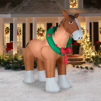 9 Ft Giant Clydesdale Horse Gemmy Airblown Christmas Inflatable New in Box