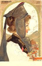 South Black Forest Baden Württemberg, Woman Signed Bühler Postcard