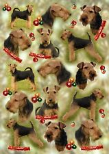 Welsh Terrier Christmas Wrapping Paper By Starprint - Auto combined postage