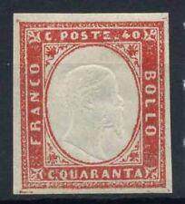 Sardegna 1855 Sass. 16Da Nuovo * 100% firmato Cardillo