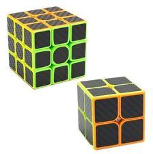 Carbon Fiber Black 2x2, 3x3 Speed Rubik's Cube Bundle Set
