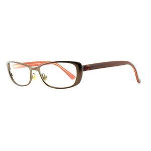 Gucci GG 2883 RWW Satin Brown / Orange Oval Optical Frames Eyeglasses
