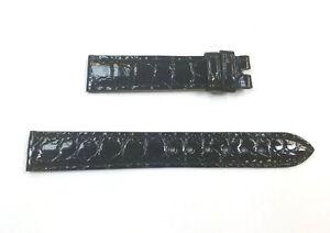 14mm Black Glossy Alligator Rolex Band