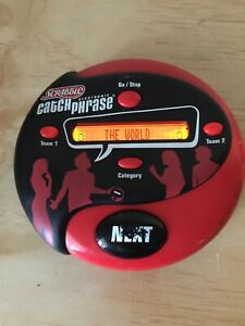 2004 Scrabble Catch Phrase Handheld Electronic Party Handheld Game Works Great