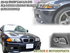 M-Style Front Bumper with Fog Fits 98-05 BMW E46 4dr 3-Series