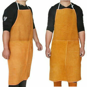 Cow Hide Leather Welders Welding Carpenters Blacksmith Safety Apron Workwear New
