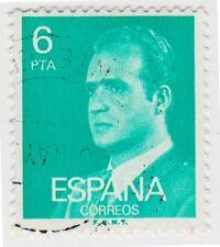 (SPB189) 1976 SPAIN 6p turquoise king Carlos ow2399
