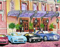 CASINO MONTE CARLO Original Art PAINTING DAN BYL Modern Contemporary Large 4x5ft