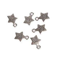 Wholesale 30pcs Tibetan Silver Smile Star Bead Charms Pendant Fit DIY Jewelry