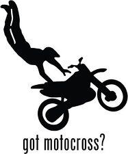 "Got Motocross Car Window Decor Vinyl Decal Sticker- 6"" Tall White"