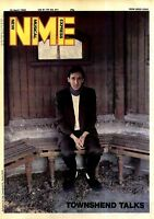 "NPBK09 15X11"" PETER TOWNSHEND ON THE COVER PAGE OF NME NEWSPAPER 19/4/80"
