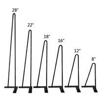 "Set of 4 Coffee Table Metal Hairpin Legs 8"" - 30"" Solid Iron Bar Black W/ Screws"
