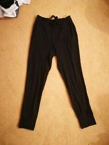 Men's Lululemon Black Joggers Sweatpants Size Small Medium Good Condition