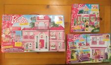 NEW MEGA BLOKS Barbie Luxury Mansion 80229 Beach House 80226 Pet Shop 80224 RARE
