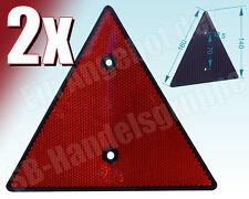 2x Dreieckrückstrahler Rückstrahler Dreieck Dreiecksrückstrahler rot
