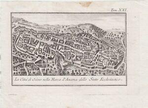 Salmon la città di Osimo nella Marca d'Ancona dello Stato Ecclesiastico 1757