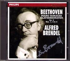 Alfred BRENDEL Signiert BEETHOVEN Piano Sonata Op.2 No.1 2 3 CD Klaviersonaten
