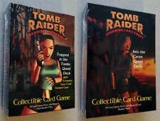 Tomb Raider Ccg Quest Deck Lot of 2 1999 Laura Croft