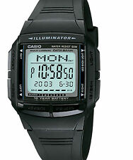 Casio 30-Page Databank Watch, 5 Alarms, Chronograph, Black Resin, DB36-1AV