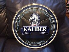 """Guinness Beer Kaliber Painted 18"""" Glass Round Window  Pub Bar Sign"""