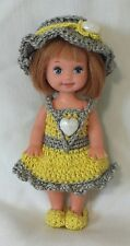Handmade crochet kelly doll dress clothes fashion set 4 Barbie sister k11