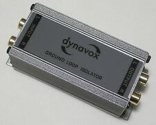 Dynavox GLI 2.1 Stereo Line Isolator RCA Cinch Masse Brummschleifen Brummen 7257