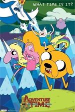 CARTOON NETWORK ADVENTURE WHAT TIME IS IT POSTER NEW 22x34 FREE SHIPPING