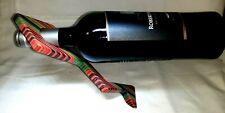 """Vintage Floating Wine Bottle Holder 10"""" Wood Art Deco Multi-Color """"Z"""" Shape, USA"""