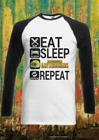 Eat Sleep PUBG Repeat Battle Men Women Long Short Sleeve Baseball T Shirt 2097