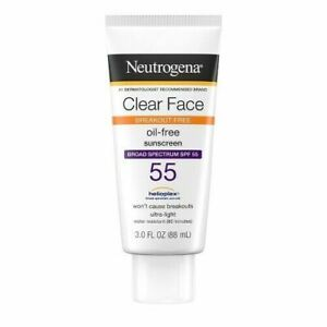 Neutrogena Clear Face Sunscreen Oil Free Lotion, SPF 55 10/2022 -3 oz