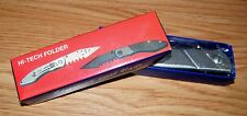 Unbranded/Generic Hi-Tech Folding Pocket Knife With Stainless Steel Blade *NEW*