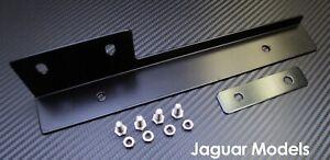 Black Front Bumper License Plate Relocator Bracket Holder JDM Bar for Jaguar