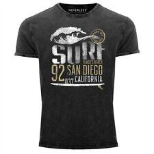 Señores vintage camisa surf California t-shirt inscripciones san diego ola look usado