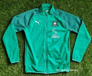 Plymouth Argyle FOOTBALL SOCCER JACKET COAT PULLOVER PUMA MEN M