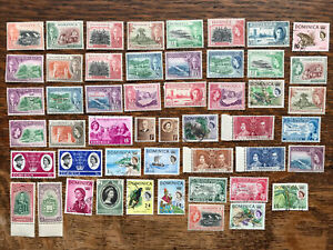 Collection Of Caribbean,Dominica Stamps