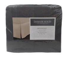 1 KING BEDSKIRT Charter Club Damask Solid Slate Gray Grey 500 TC Pima Cotton