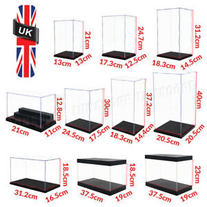 Acrylic Display Case Clear Perspex Box Dustproof 1/6  Action Figures Large 41cmL