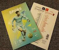Tottenham v Liverpool Matchday Programme + teamsheet 11/1/20! FREE UK DELIVERY!!