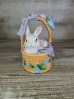 Beautiful Vintage Porcelain Bell JSNYEaster Bunny in Basket Collection
