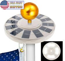 NEW UPGRADED Solar Power Flag Pole 144 LED Light Powerful Outdoor Flagpole Light