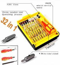32 en 1 Juego de destornilladores de precisión electrónica Ranurados, TORX, ESTRELLA, Philips, Hex,