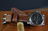 MA WATCH STRAP 26 24 22 GENUINE LEATHER VINTAGE BAND FOR PANERAI OIL BROWN III