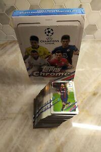 2020-21 Topps Chrome UEFA Champions League - Complete Base Set (100 Cards)