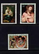 Gabon 1968 Murillo Morales Mates Art  St. John Jesus Christ MLH Scott C64-C66