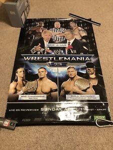 "Wrestlemania 23 Poster 24""x38.5"" Wrestling WWE NXT STONE COLD TRUMP CENA TAKER x"