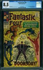 Fantastic Four #59 CGC 8.5 -- 1967 -- Inhumans Silver Surfer Dr Doom #2017597018