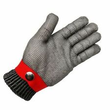 Metal Mesh Wire Butcher Glove Safety Cut Proof Stab Resistant Stainless Size XL